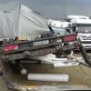 Karşı şeride geçen TIR kamyonla çarpıştı