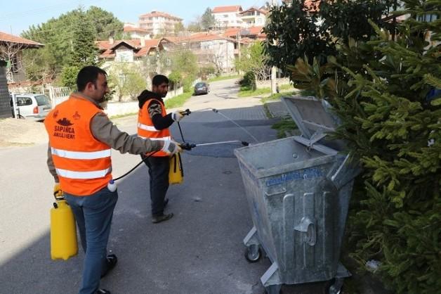 Sapanca Belediyesi Etkin Olarak Larva Mücadelesine Başladı