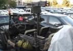 Maket uçaksavarlı cip, trafikten men edildi